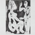 """Пабло Пикассо """"Иллюстрация из издания """"Пьер Реверди """"Плывун"""" 1966"""