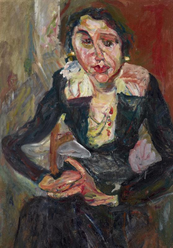 """Хаим Сутин """"Зеленое платье"""" 1920–1921"""