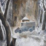 """Татьяна Купервассер """"Автомобиль перед домом"""" Конец 1920-х"""