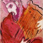 """Марк Шагал """"Давид играющий на арфе"""" 1956"""