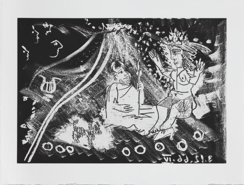 """Пабло Пикассо """"Иллюстрация из издания """"Фернан Кроммелинг """"Великолепный рогоносец"""" 1968"""