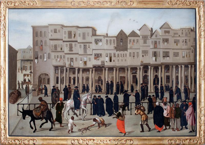 """Неизвестный художник """"Новая улица Торговцев в Лиссабоне"""" 1570-1621"""