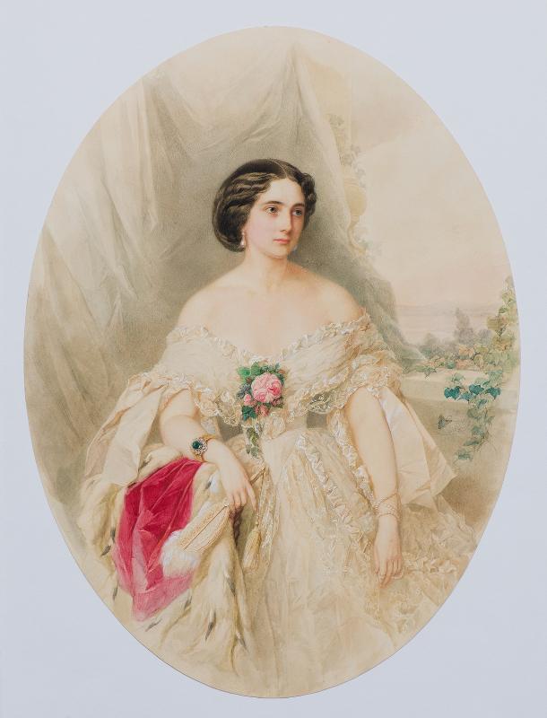 """Владимир Гау """"Портрет Б.И. Сахаровой"""" 1859"""