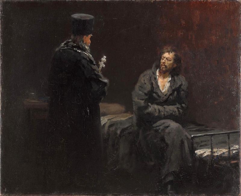 """Илья Репин """"Отказ от исповеди"""" 1879–1885 Третьяковская галерея"""