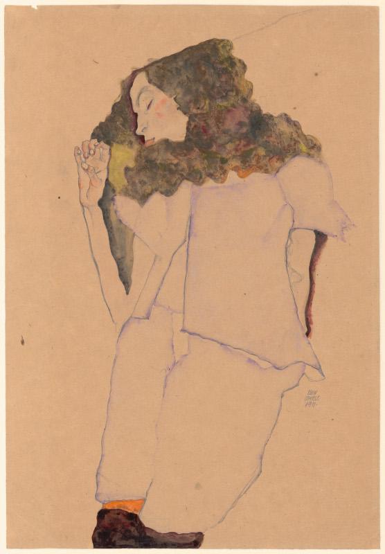 """Эгон Шиле """"Спящая девушка"""" 1911"""