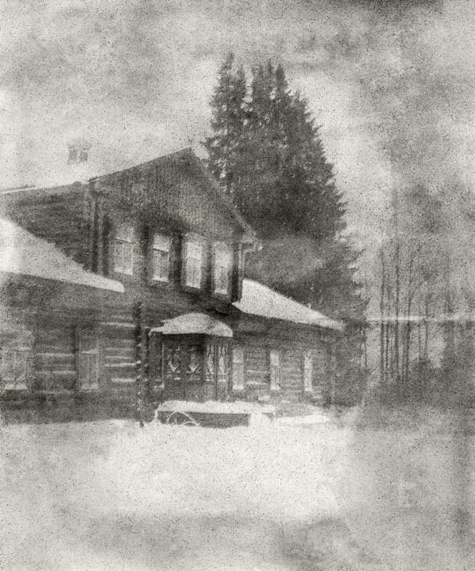 """Борис Кустодиев """"Усадьба Павловское зимой"""" 1902"""