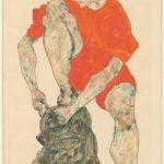 "Эгон Шиле ""Натурщица в красном"" 1914"