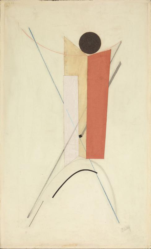 """Эль Лисицкий """"Фигура из геометрических форм. Вариант Проуна 43"""" Около 1922"""