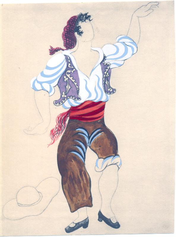"""Пабло Пикассо """"Пошуар. Эскиз костюма коррехидора к балету М. де Фалья """"Треуголка"""" 1920"""
