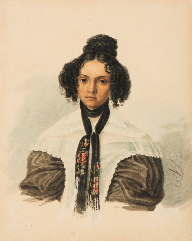"Николай Бестужев ""Портрет княгини М.Н. Волконской"" 1837"