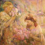 """Александра Коновалова """"Барышни в беседке"""" 1910"""
