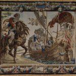 Гобелен с сюжетным изображением встречи Антония и Клеопатры из цикла «Антоний и Клеопатра». До 1700