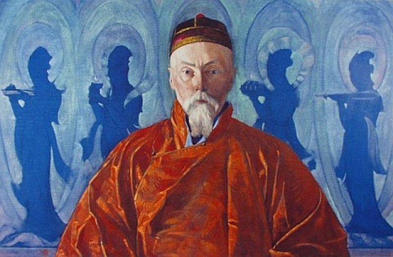 """Святослав Рерих """"Портрет Н.К. Рериха. Индия"""" 1928"""