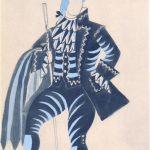 "Пабло Пикассо ""Пошуар. Эскиз костюма мельника к балету М. де Фалья ""Треуголка"" 1920"
