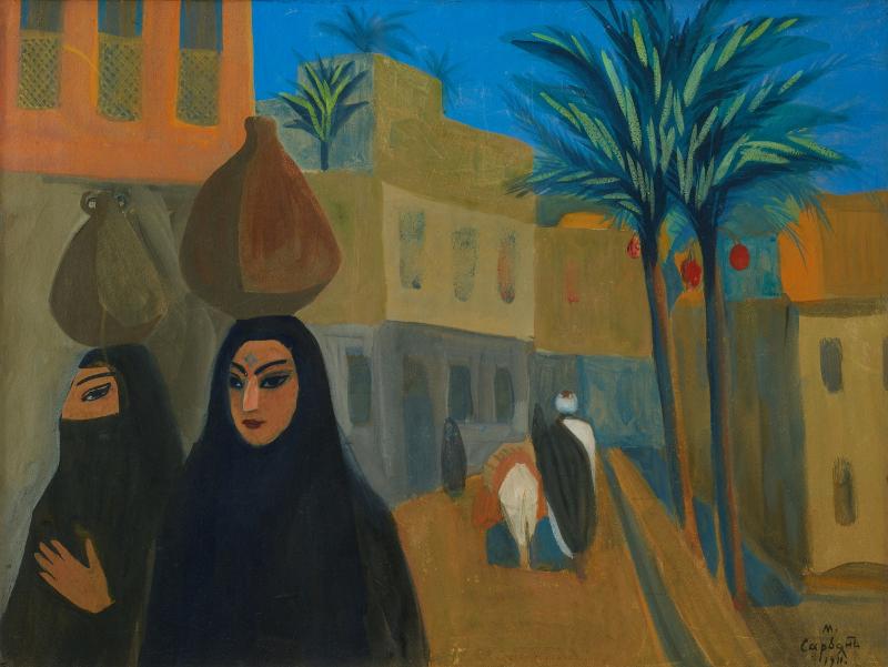 """Мартирос Сарьян """"Улица в Каире"""" 1911"""