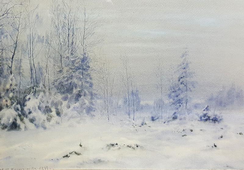 "Николай Мартынов ""Зимний пейзаж"" 1899"