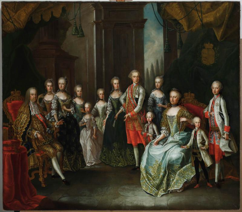 """Франц фон Фареншон """"Портрет императрицы Марии Терезии с семейством"""" 1772(?)"""