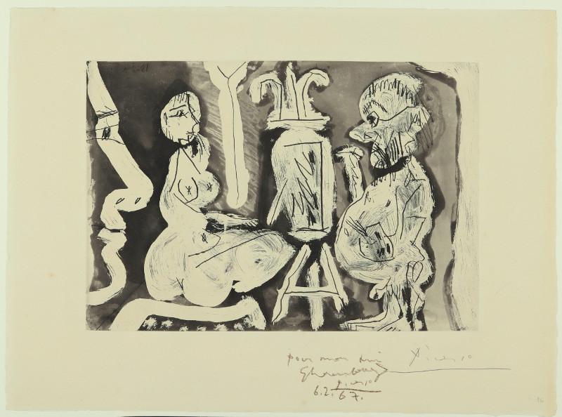 """Пабло Пикассо """"Художник и его модель"""" 1965"""
