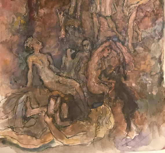 Поэзия Иосифа Бродского. Рисунки Юрия Рыжика. Однодневная выставка и вечер поэзии.