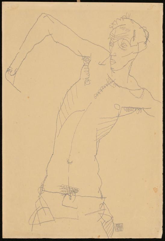 "Эгон Шиле ""Aвтопортрет"" 1914"
