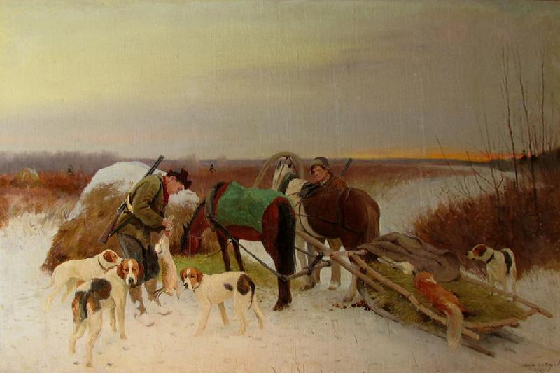 "Михаил Сидоров ""На охоте"" 1949"