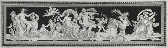 """Ф. Бартолоцци по оригиналу Д.Б. Чиприани """"Нептун и Амфитрита"""" 1790-е"""