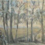 """Борис Чернышёв """"Кавказ. На опушке"""" 1965"""