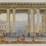 """Василий Садовников """"Вид на Аничков дворец со стороны Фонтанки"""" 1842"""