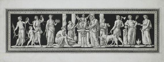 Ф. Бартолоцци по оригиналу Д.Б. Чиприани. Жертвоприношение Юпитеру. 1790-е