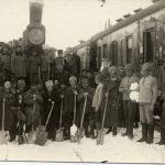 Агитпарпоезд «Красный Восток» на станции Чукусу. 1920