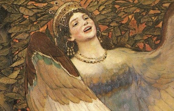В.М. Васнецов «Сирин и Алконост» 1896 Фрагмент – Сирин