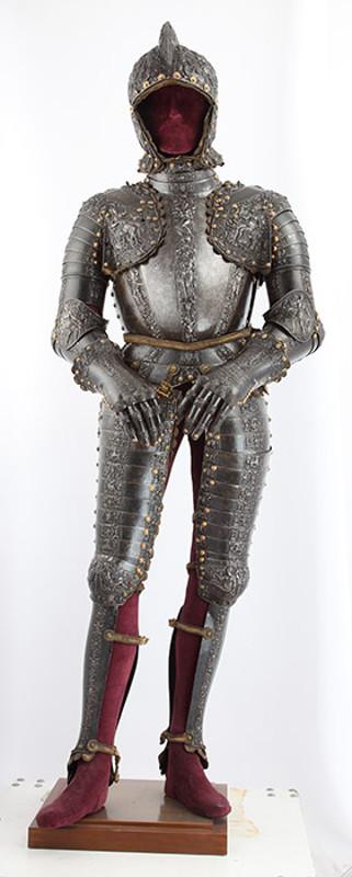 """Антон Пеффенхаузер """"Парадный доспех короля Филиппа II"""" Аугсбург, около 1560"""