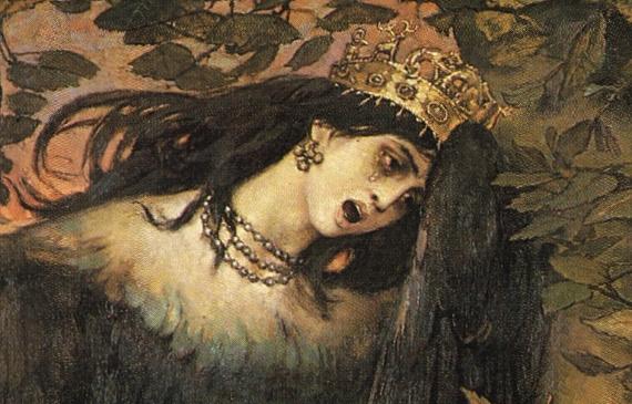 В.М. Васнецов «Сирин и Алконост» 1896 Фрагмент - Алконост