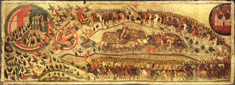 """Икона """"Благословено воинство небесного царя... Церковь воинствующая"""" 1550-е"""