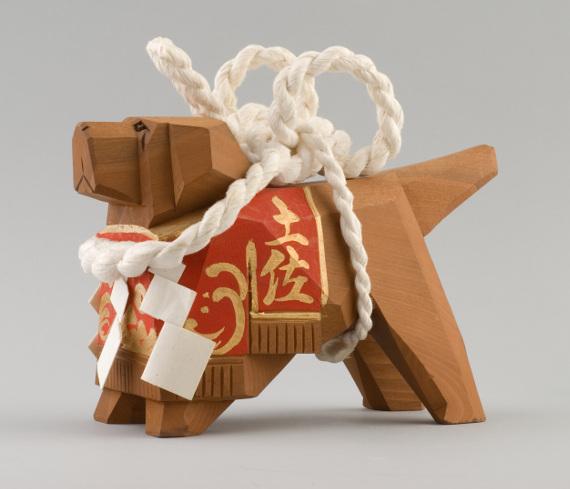Игрушка в виде бойцовой собаки тоса ину. Япония, 1998 г.
