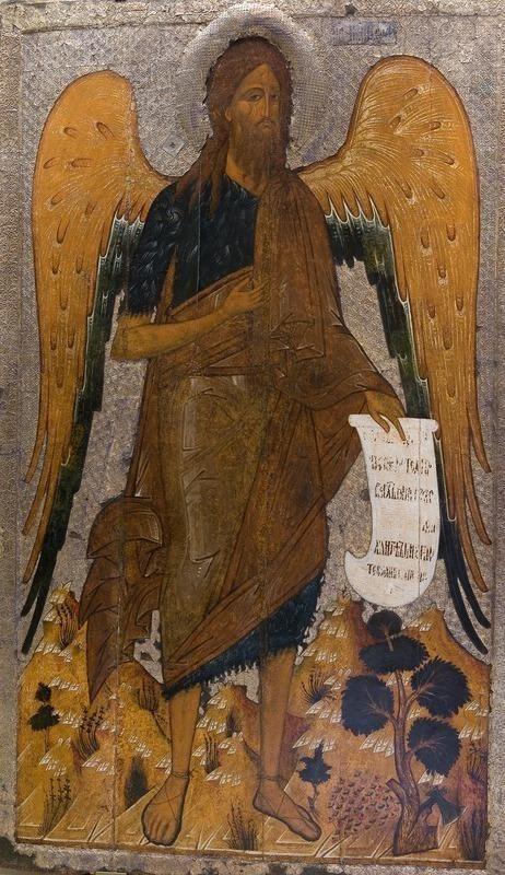 """Икона """"Иоанн Предтеча в пустыне"""" XVI век"""