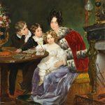 """Карл Брюллов """"Портрет Е.П. Гагариной с сыновьями Евгением, Львом и Феофилом"""" 1824"""