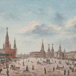 Вид Красной площади в сторону Воскресенских ворот. Художник О. Кадоль (?). 1820-е