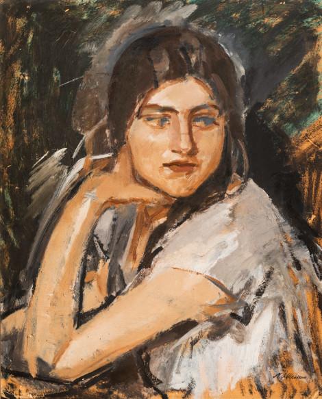 """Михаил Шемякин """"Портрет девушки. Кира"""" 1925"""