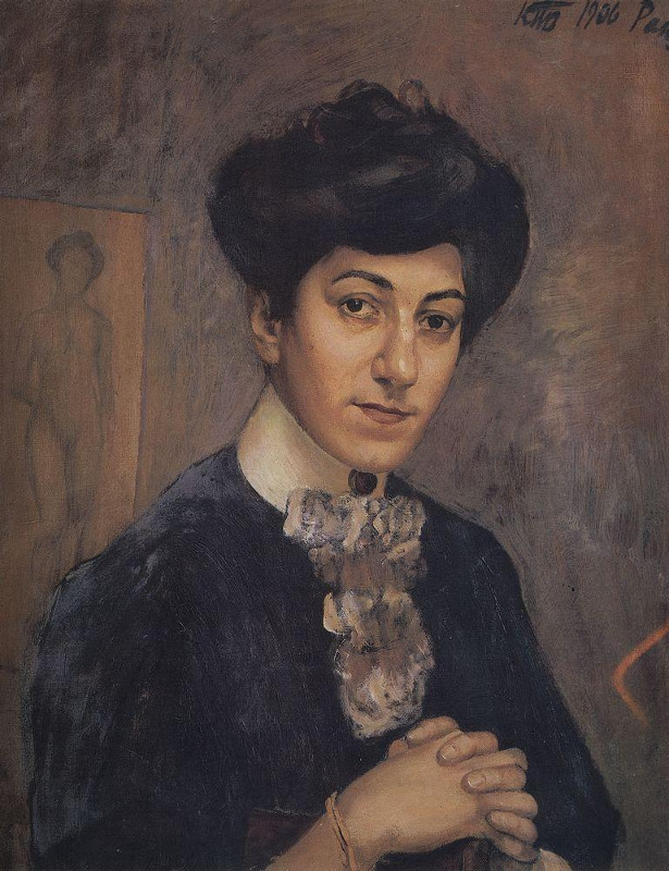 """Кузьма Петров-Водкин """"Портрет жены"""" 1906 Таллин, музей Кадриорг"""
