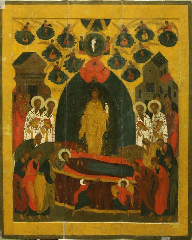 """Икона """"Успение Богоматери"""" Около 1560"""