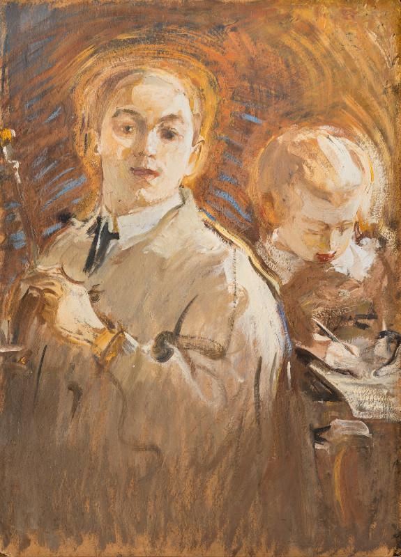 """Михаил Шемякин """"Автопортрет с сыном"""" 1905"""