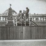Передвижка памятника Минину и Пожарскому на Красной площади. Фотограф А. А. Вепринцев. 1931
