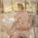 """Михаил Шемякин """"Портрет жены и сына за столом"""" Около 1910"""