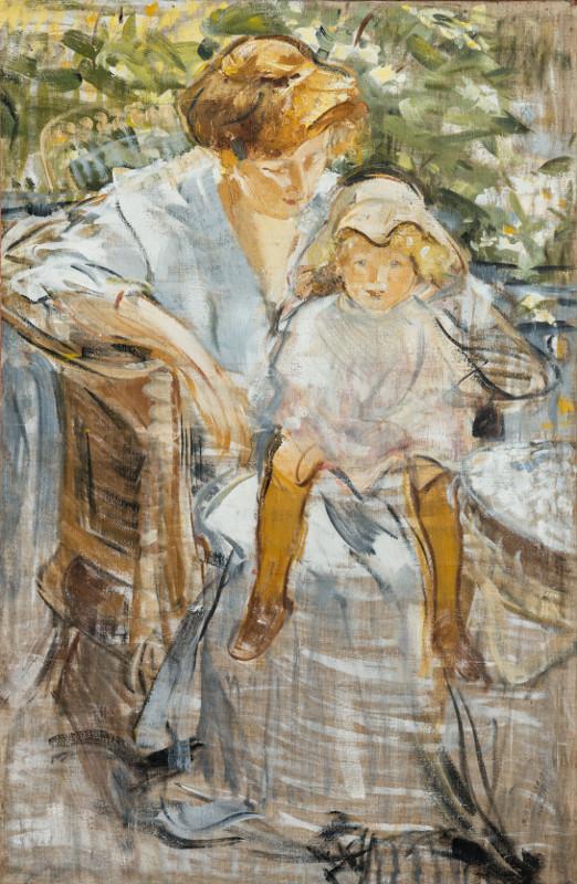 """Михаил Шемякин """"Портрет жены с сыном на коленях"""" 1910"""