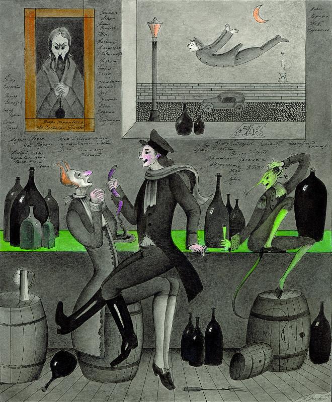 Михаил Шемякин. Из иллюстраций к стихам и песням Владимира Высоцкого.