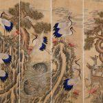 """Неизвестный художник """"Цветы и птицы"""" Корея. Рубеж 19 и 20 веков"""