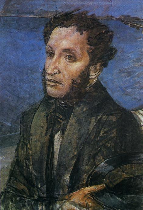 К.С. Петров-Водкин «Пушкин на набережной Невы» 1930-е