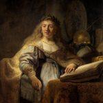"""Рембрандт ван Рейн """"Минерва в своем кабинете"""" 1635"""