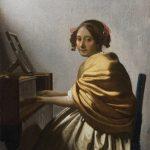 """Ян Вермеер """"Молодая женщина сидящая за вёрджинелом"""" Около 1670-1672"""